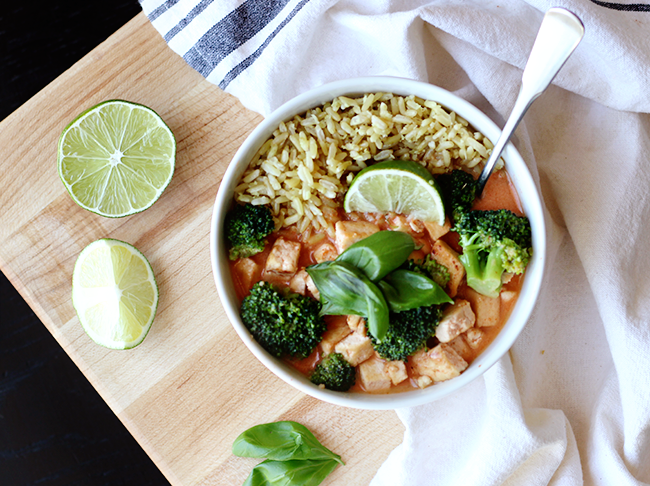 Easy Vegetarian Thai Red Curry