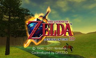 Imagen del título de The Legend of Zelda : Ocarina of Time 3D para Nintendo 3DS