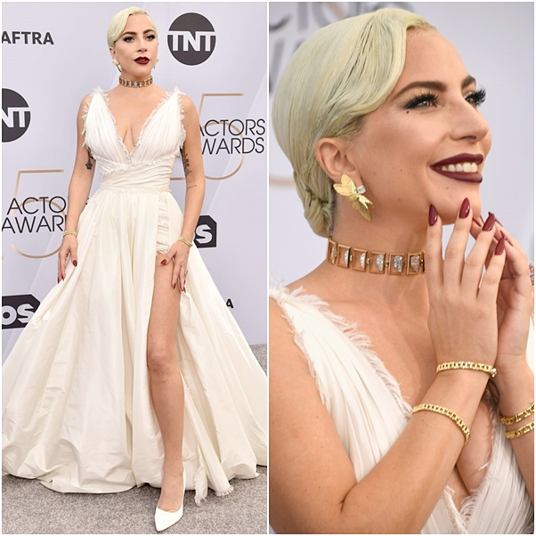 Os looks do SAG Awards 2019 lady gaga