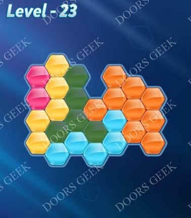 Block! Hexa Puzzle [5 Mania] Level 23 Solution, Cheats, Walkthrough for android, iphone, ipad, ipod
