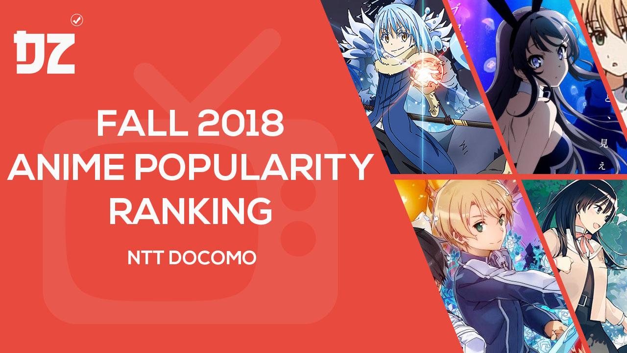 Fall 2018 anime popularity ranking ntt docomo