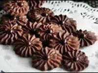 Kue Semprit Cokelat