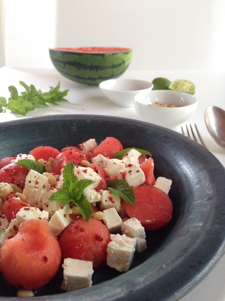 Melone-Feta-Salat: Der Fitness-Klassiker