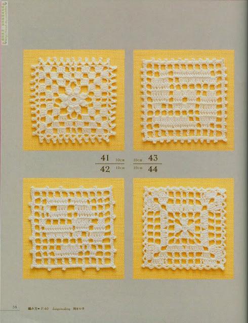 Motivos de Crochê Com Gráfico 14