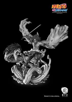 """Prototipo de la estatua de Sasuke Uchiha de """"Naruto Shippuden"""" de Ryu Studio"""