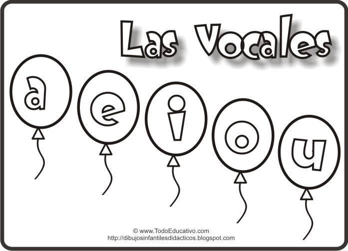 Español Dibujo Para Colorear: Dibujos De Las Vocales Para Colorear