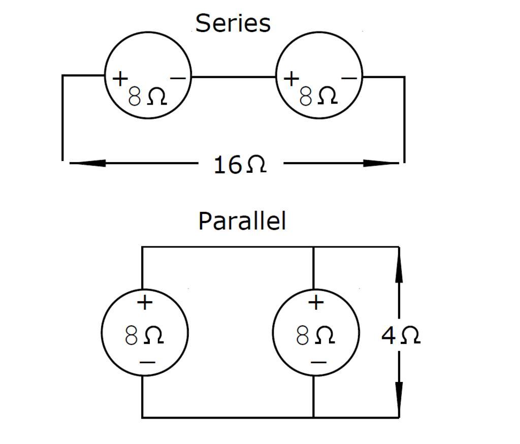wiring 4 speakers in parallel