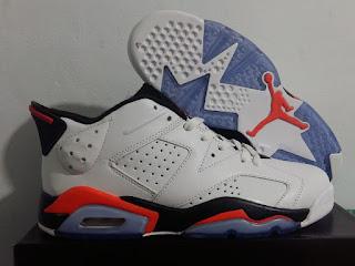 Jordan 6 Low Infrared White