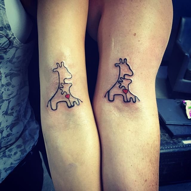 Tatuagens de girafa