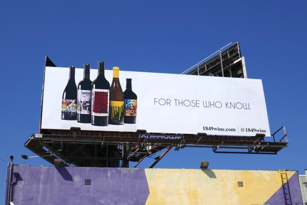 1849 wine billboard