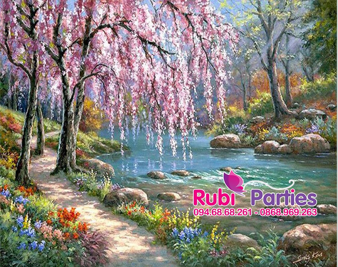 Tranh son dau so hoa tai Nhan Chinh