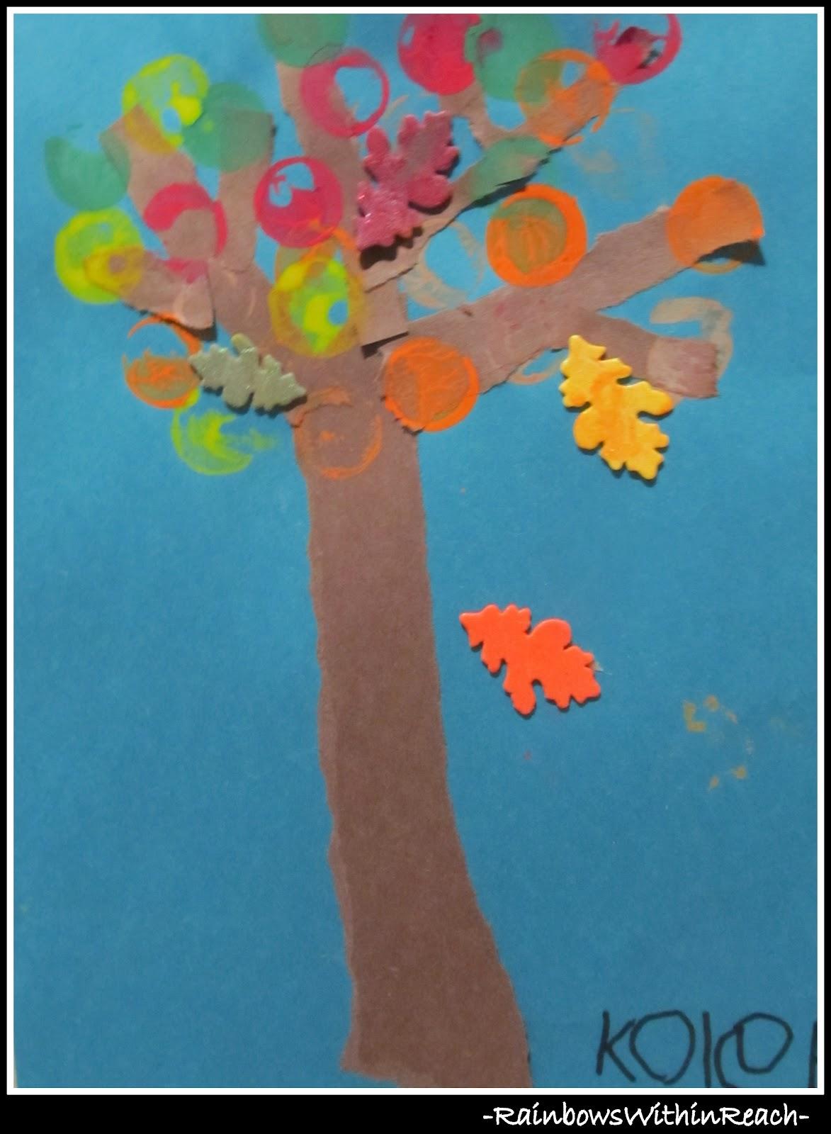Fall Leaf Art Project in Preschool ~ DrSeussProjects