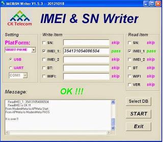 DOWNLOAD IMEI-SN WRITER TOOL & DB FILE