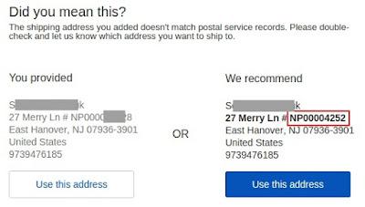 Адрес доставки eBay