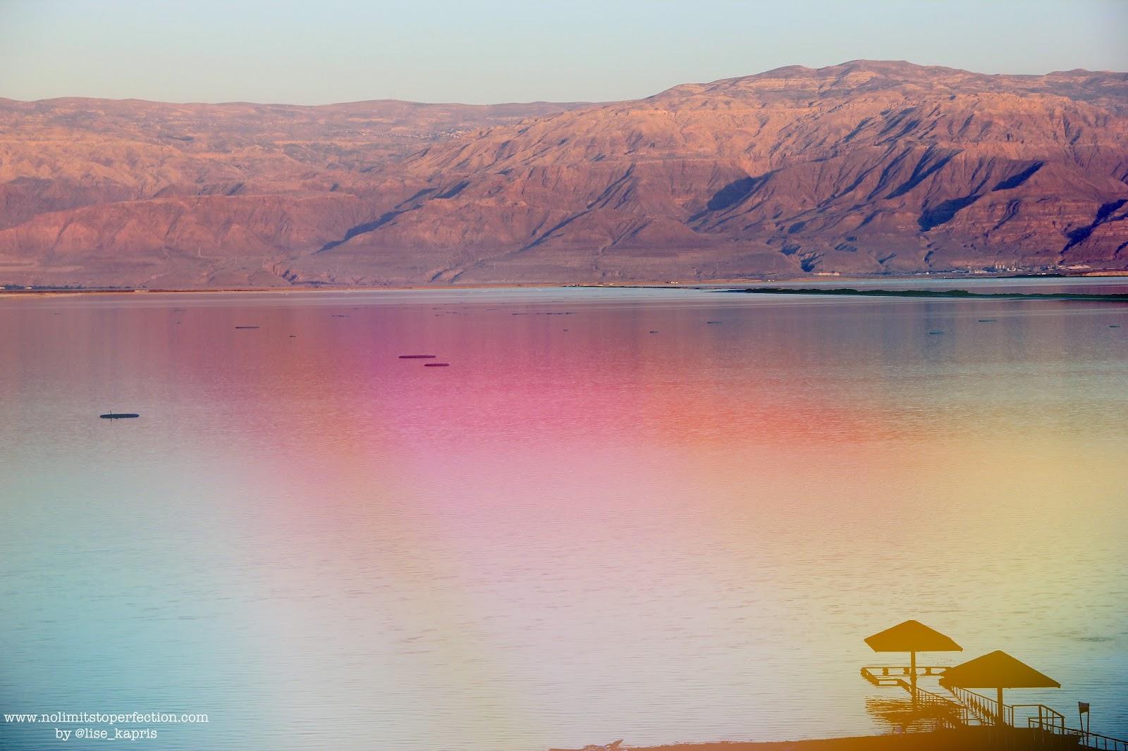 Lise Kapris на Мертвом море