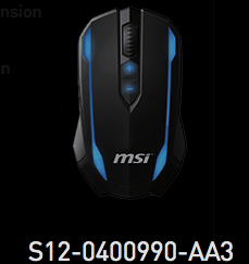 MSI S12-0400990-AA3 Mouse New