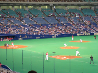 First pitch, Carp vs. Dragons