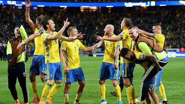 Suecia 2-1 Francia en un partido en Solna en la Eliminatoria Europa Rusia 2018