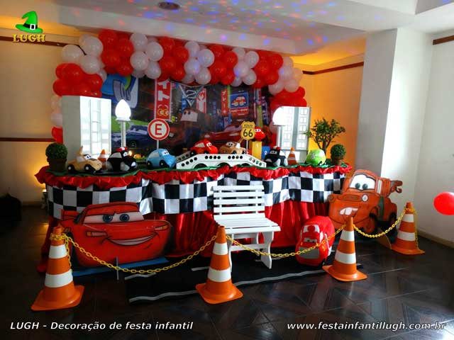 Decoração tema Carros (Disney) para festa de aniversário infantil de meninos - Barra da Tijuca (RJ)