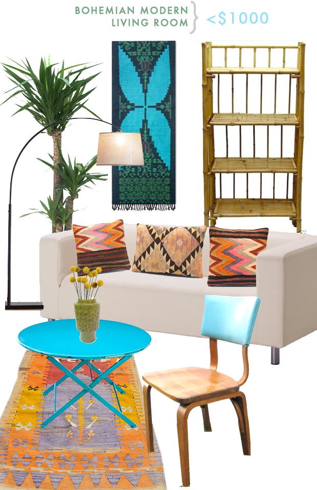 Boho Modern Living Room: Rooms