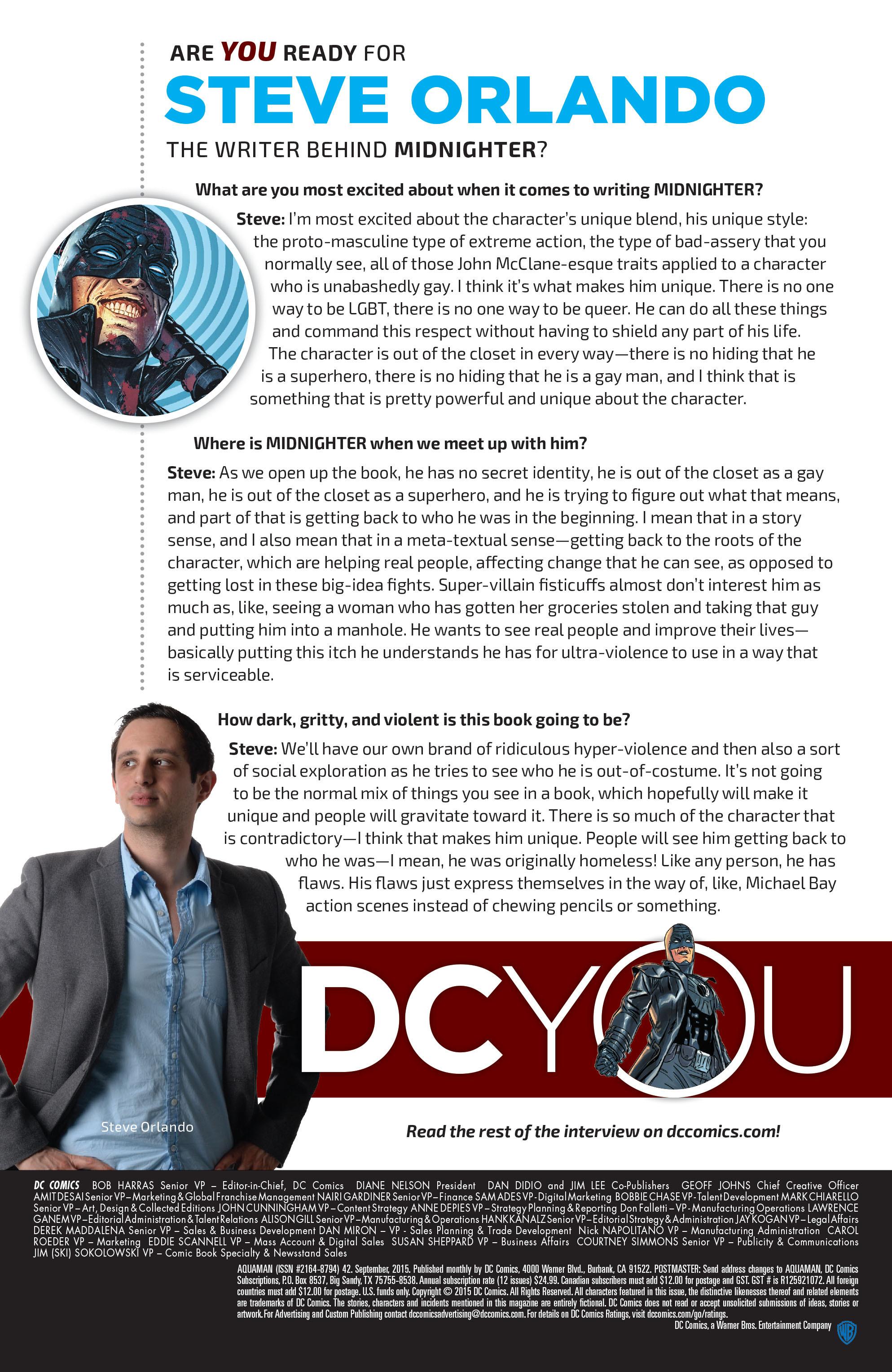 Read online Aquaman (2011) comic -  Issue #42 - 22