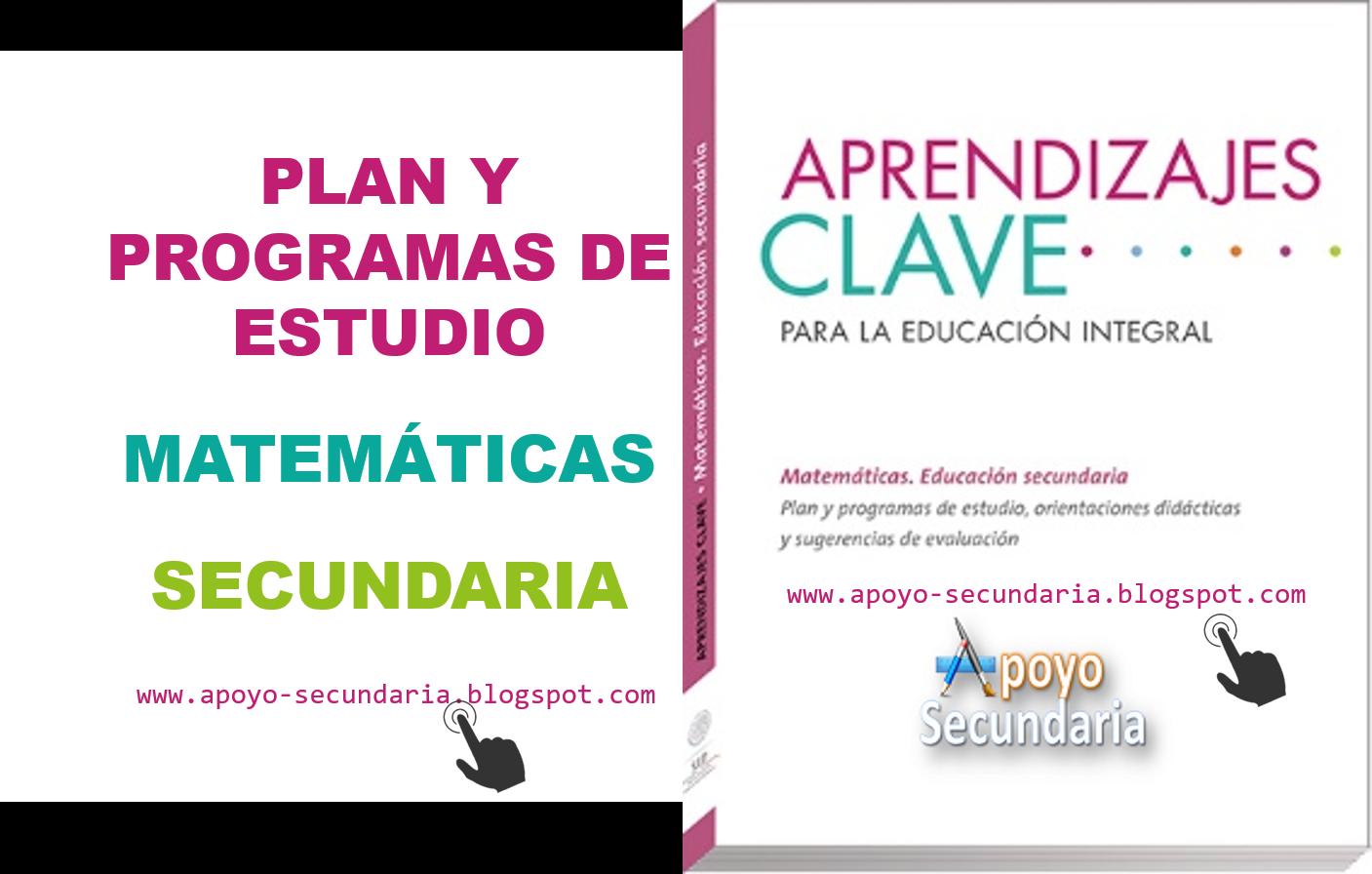 Plan y Programa de Estudio de Matemáticas