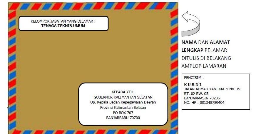 Contoh Mengirim Surat Lamaran Lewat Kantor Pos