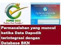 gambar permasalahan yang muncul ketika Data Dapodik terintegrasi dengan Database BKN