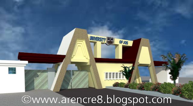 University of Jos entrance gate 3D render