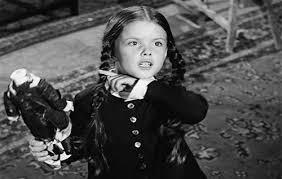 Fotografía de Wednesday en la familia Addams, interpretado por Lisa Loring