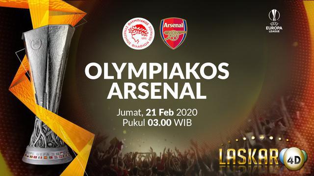 Prediksi Pertandingan Arsenal Vs Olympiacos 28 Feb 2020