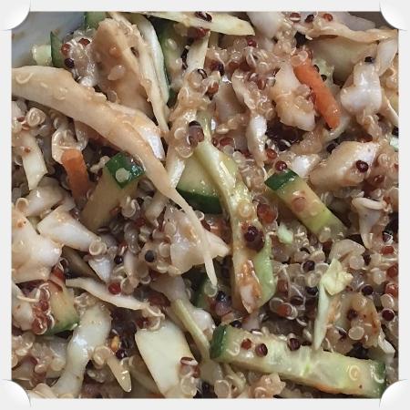 Quinoa Salad with Spicy Peanut Sauce