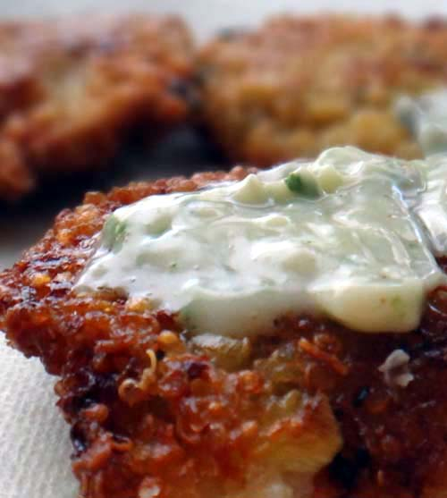 Delicious Quinoa Snack Cakes with Light Mayo