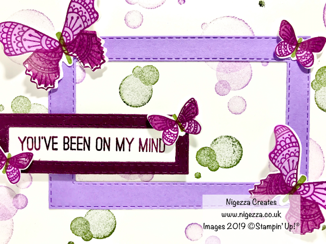 InspireINK Blog Hop Tic Tac Toe Colour Challenge Butterfly Gala Stampin' Up! Nigezza Creates