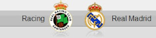 Racing Santander and Real Madrid shields