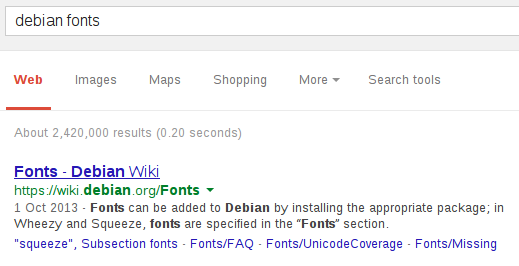 Don't Surf in the Nude!: Make Chromium fonts look like Iceweasel's