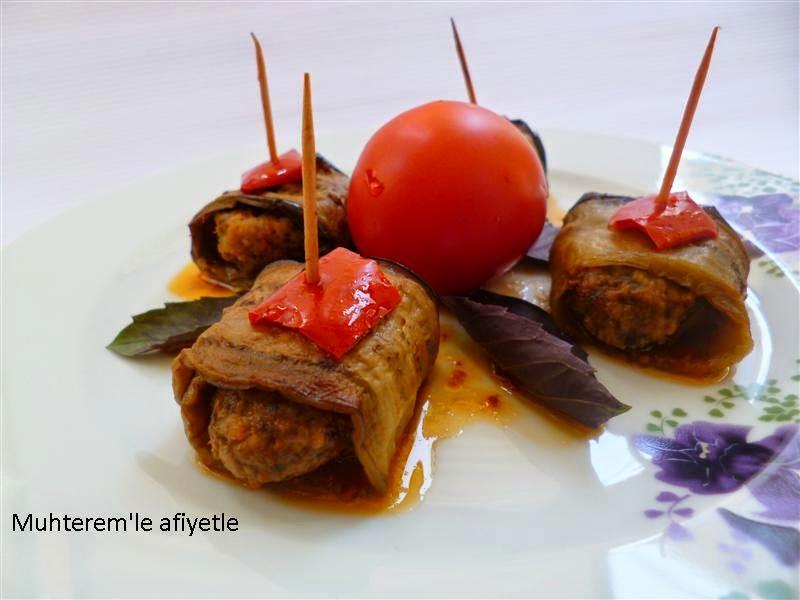 Köfteli Patlıcan Sarma nasıl yapılır