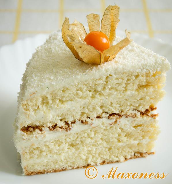 Кокосовый торт «Зимние чудеса»