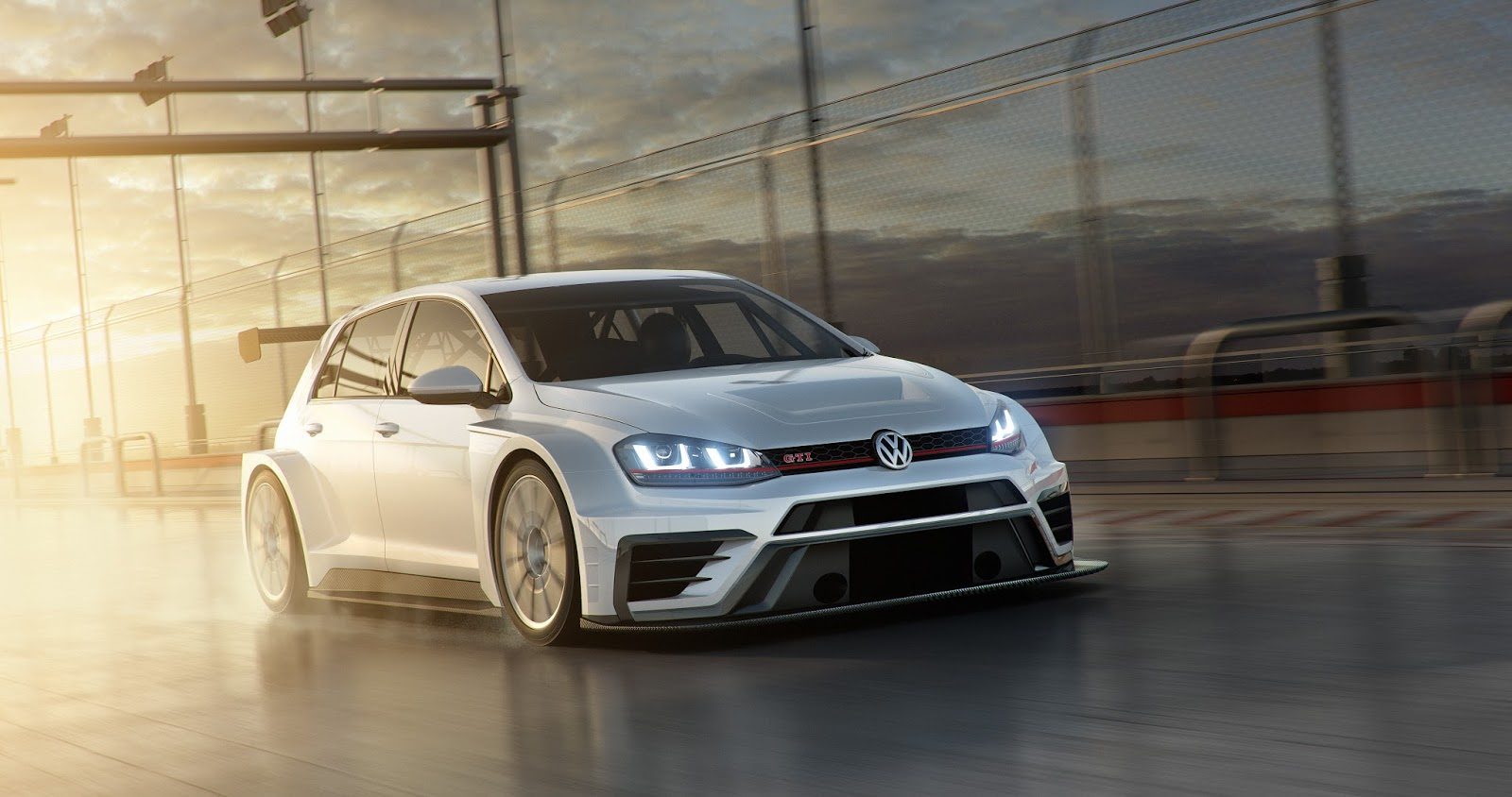 volkswagen 39 s new golf gti tcr ready to hit the track. Black Bedroom Furniture Sets. Home Design Ideas