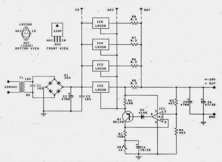 12 volt 30 power supply schematic