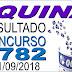 Resultado da Quina concurso 4782 (21/09/2018) ACUMULOU!!!