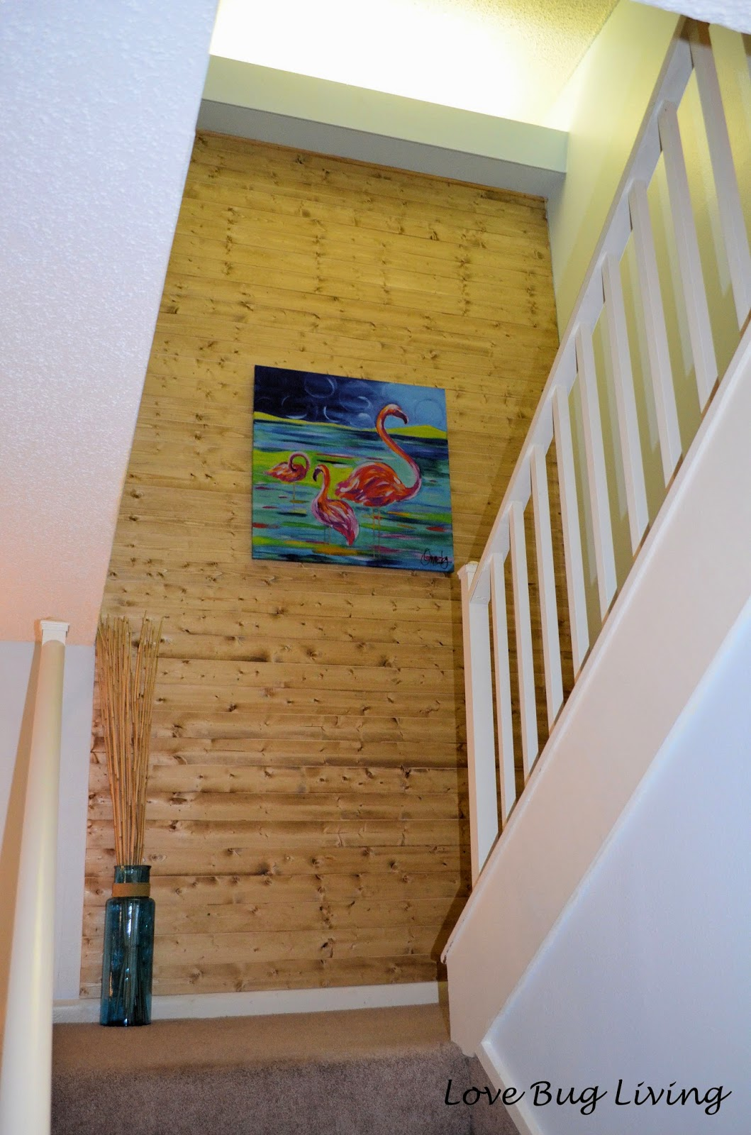 Love Bug Living Wood Plank Accent Wall At The Beach Condo