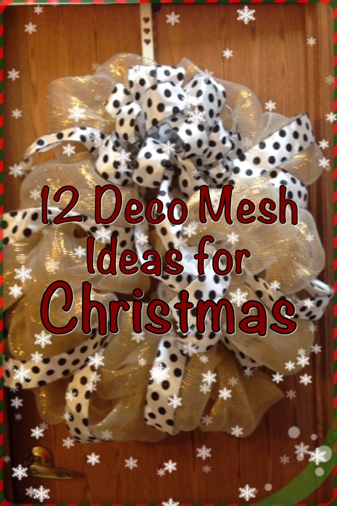 Decorating Christmas Tree With Mesh Ribbon Ideas Decorating With