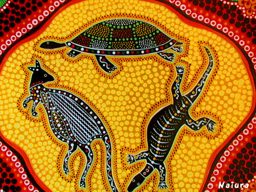 Aboriginal Art Turtle Dot Painting