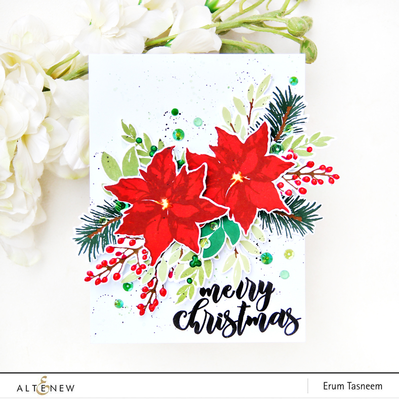 Altenew Holiday Bow Stamp | Erum Tasneem | @pr0digy0