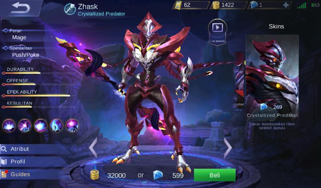 Build dan Item Zhask Savage Full Damage Sangat Mematikan Ala Top Player Mobile Legend