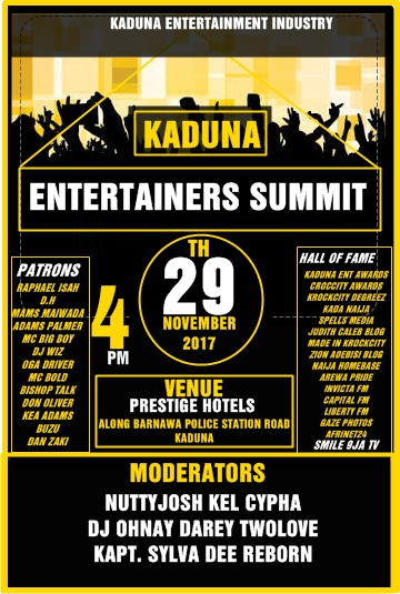 Kaduna Entertainers Summit (29th Nov. 2017)