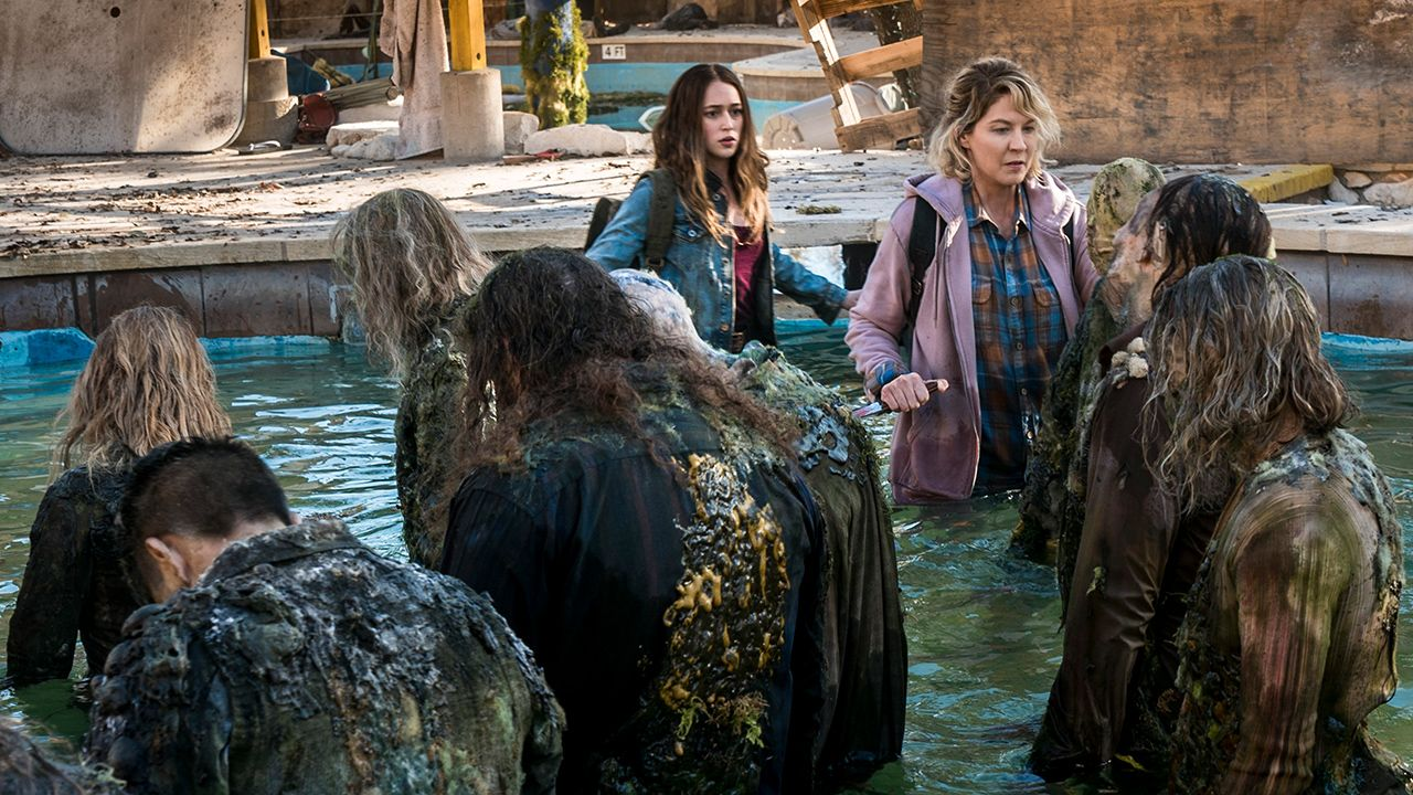 Fotografía de Alicia y Naomi en el 4x04 de Fear The Walking Dead