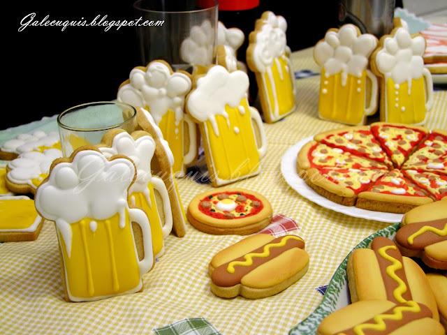 galletas jarra de cerveza de glasa