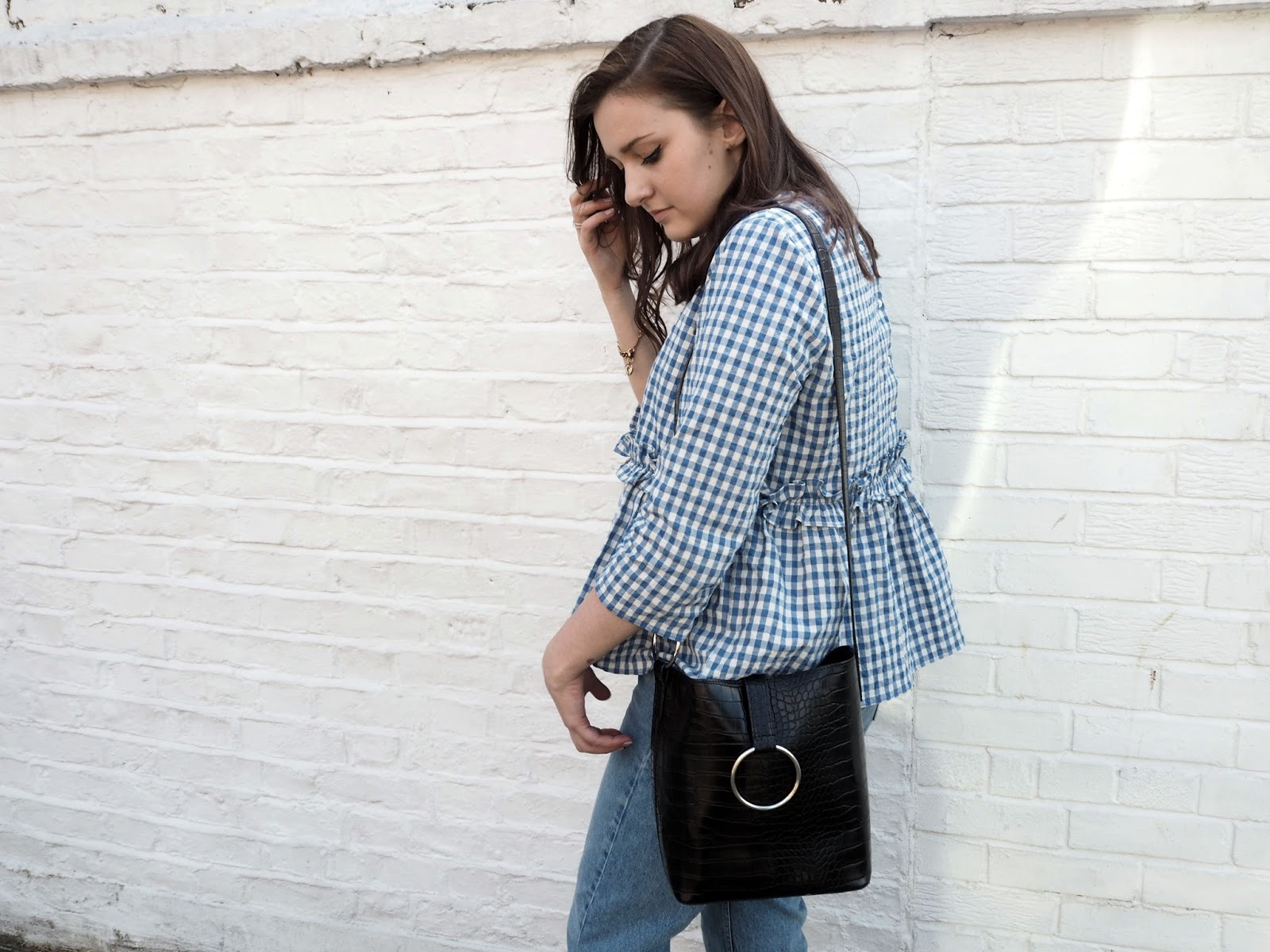 Why Do I Blog | Lauren Rose Style Blue Gingham Top Zara OOTD